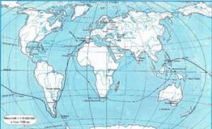 контурная карта мира