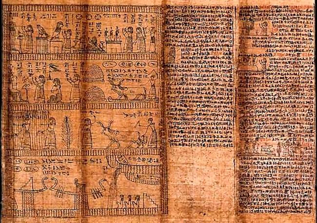 папирус, древняя, бумага