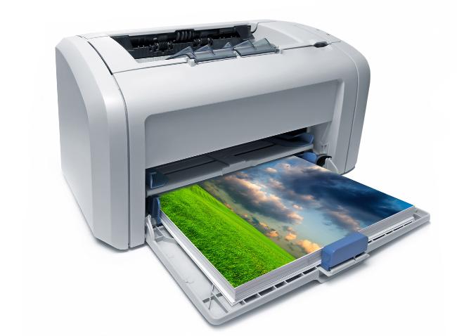работа лазерного принтера