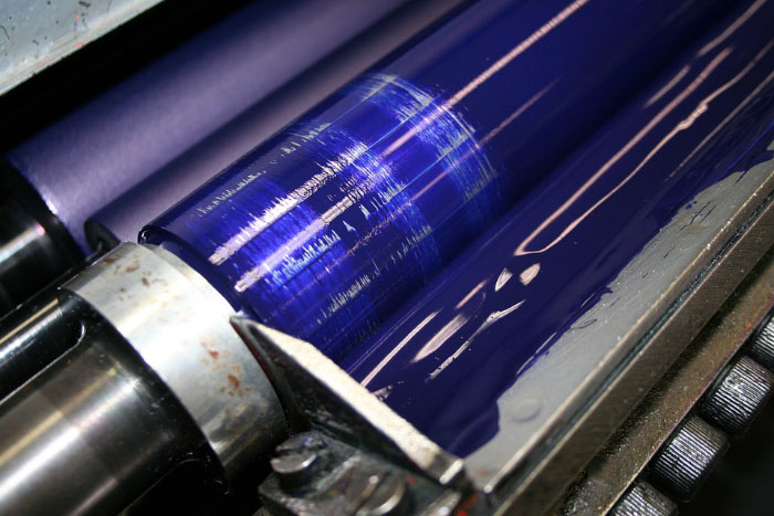 краска в печатной машине